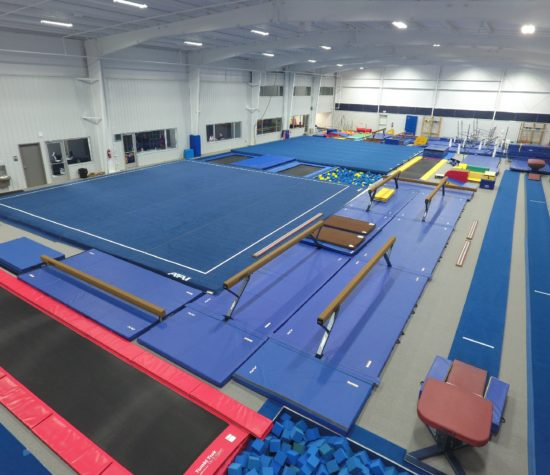 image of gymnastics gym with gymnastics equipment